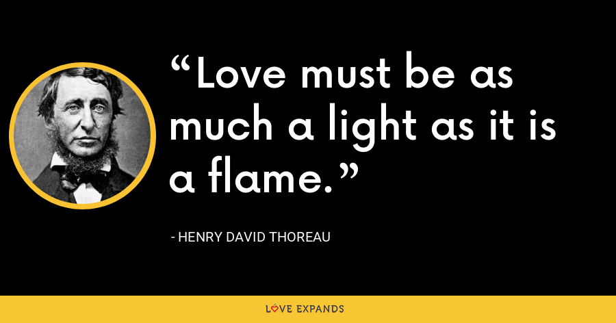 Love must be as much a light as it is a flame. - Henry David Thoreau