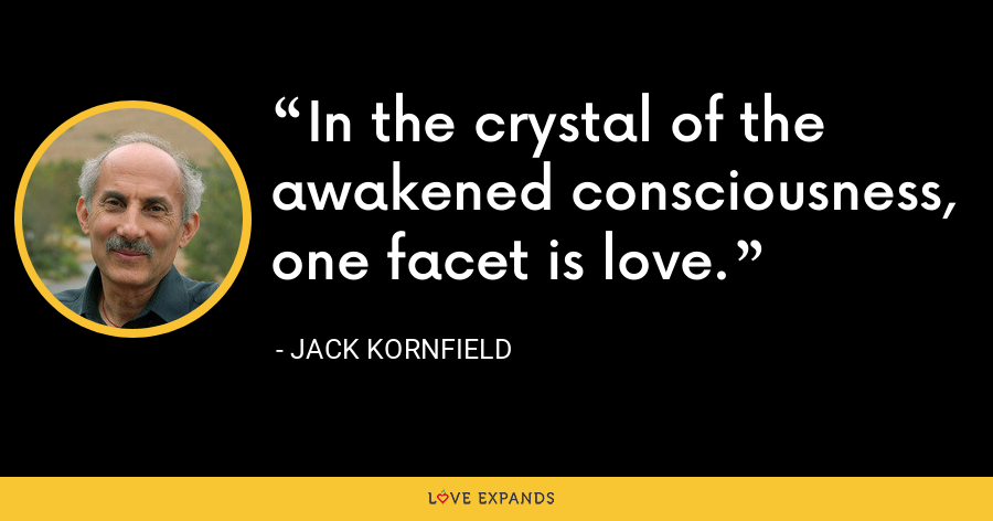 In the crystal of the awakened consciousness, one facet is love. - Jack Kornfield