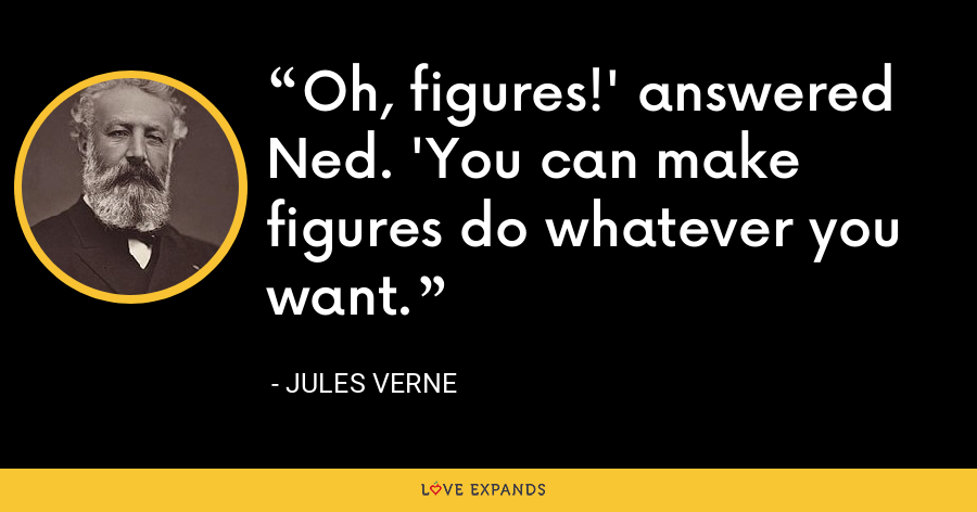 Oh, figures!' answered Ned. 'You can make figures do whatever you want. - Jules Verne
