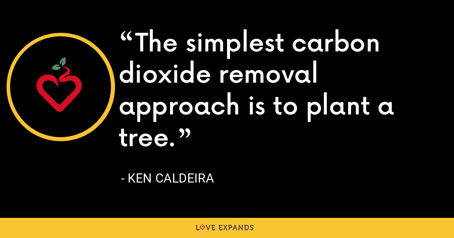 The simplest carbon dioxide removal approach is to plant a tree. - Ken Caldeira