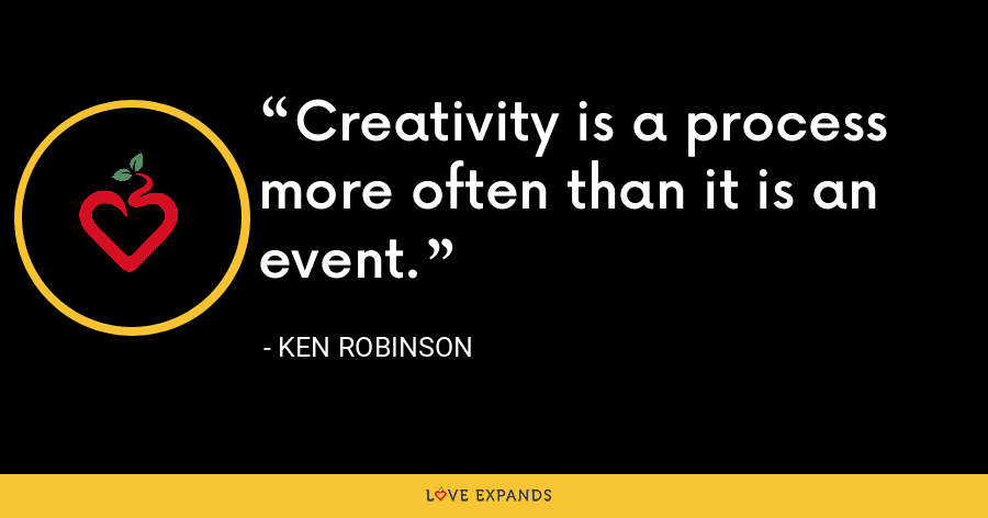Creativity is a process more often than it is an event. - Ken Robinson