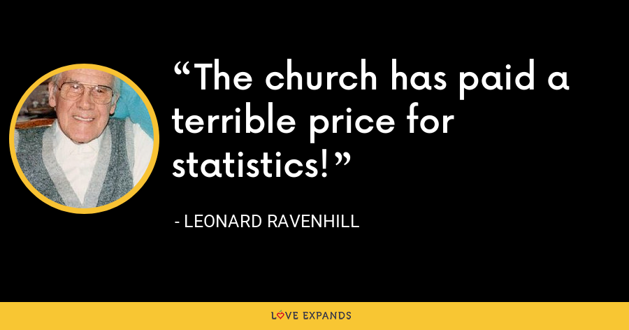 The church has paid a terrible price for statistics! - Leonard Ravenhill