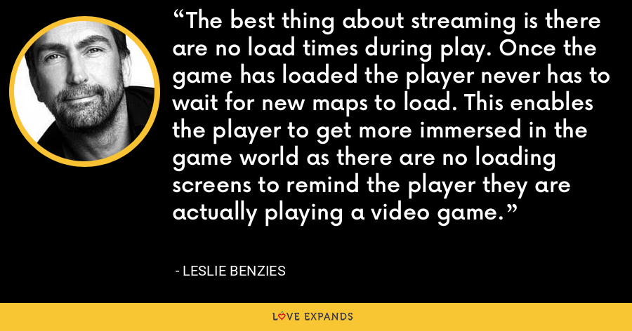 The best thing about streaming is there are no load times during play. Once the game has loaded the player never has to wait for new maps to load. This enables the player to get more immersed in the game world as there are no loading screens to remind the player they are actually playing a video game. - Leslie Benzies