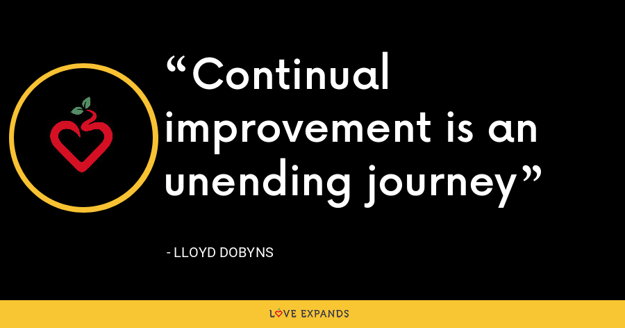 Continual improvement is an unending journey - Lloyd Dobyns