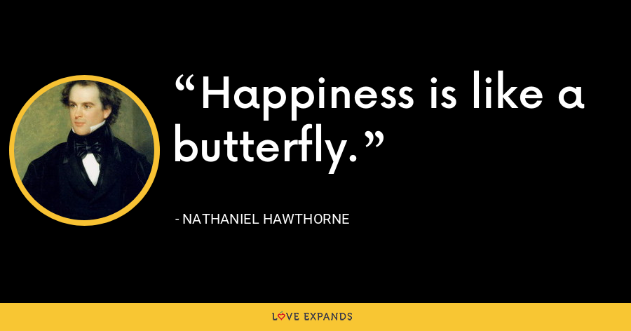 Happiness is like a butterfly. - Nathaniel Hawthorne