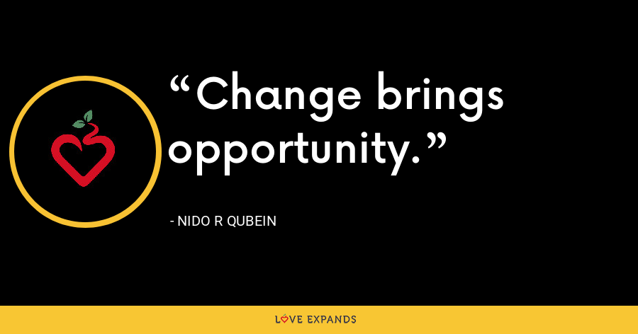 Change brings opportunity. - Nido R Qubein
