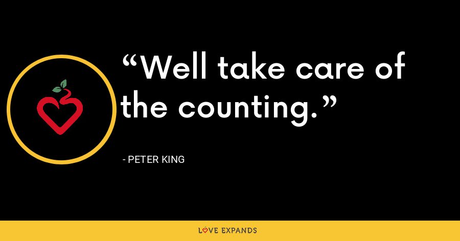 Well take care of the counting. - Peter King