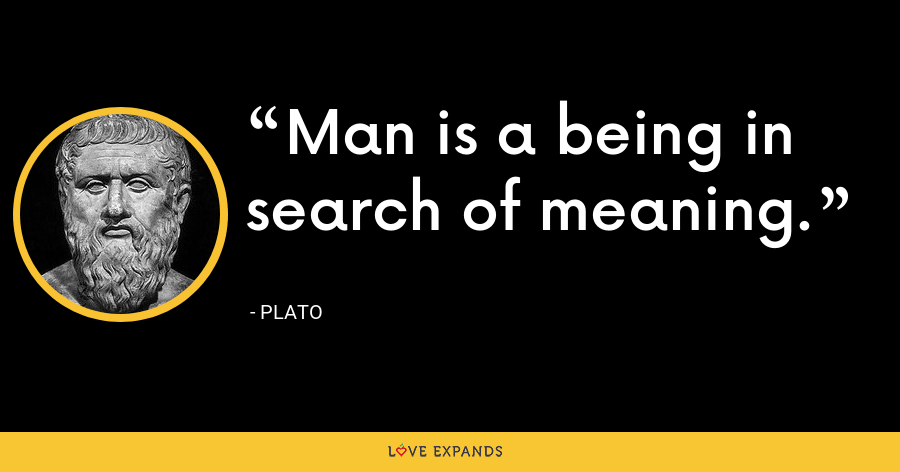 Man is a being in search of meaning. - Plato