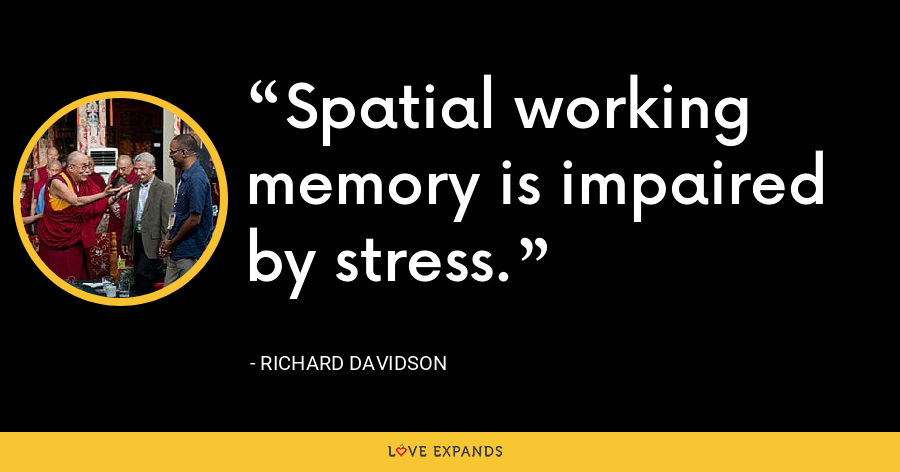 Spatial working memory is impaired by stress. - Richard Davidson