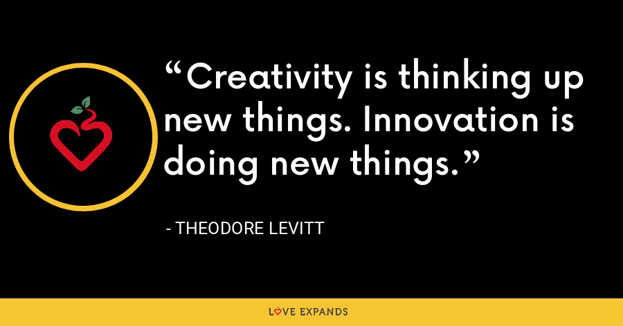 Creativity is thinking up new things. Innovation is doing new things. - Theodore Levitt