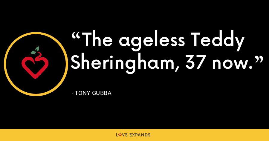 The ageless Teddy Sheringham, 37 now. - Tony Gubba
