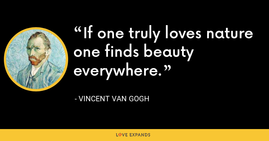 If one truly loves nature one finds beauty everywhere. - Vincent Van Gogh